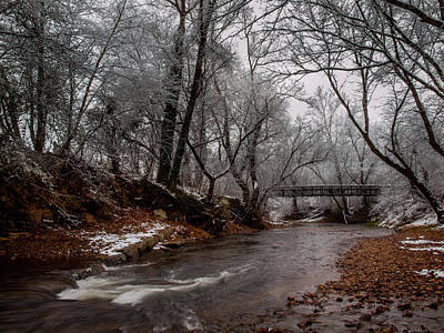 Photograph - Bridge Over Snowy Water by Randy Sylvia