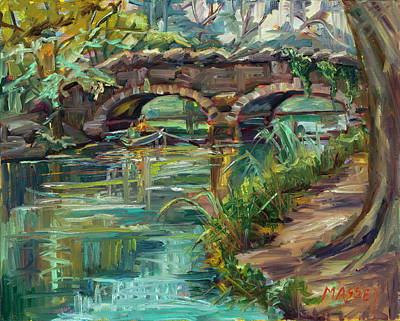 Painting - Bridge Over Stow Lake by Marie Massey