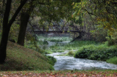 Photograph - Bridge Over Stream by Deb Buchanan