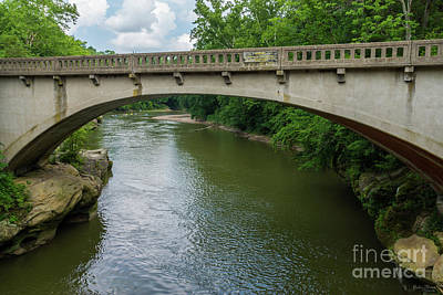 Photograph - Bridge Over Sugar Creek by Jennifer White