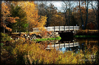 Bridge Over The Blackstone Canal Art Print by Jim  Calarese