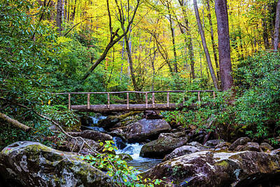 Bridge Over The Cascades Art Print