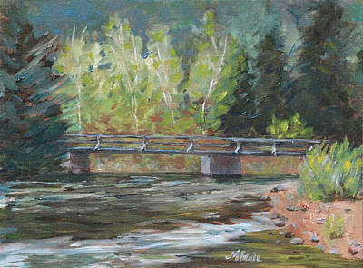 Fort Collins Painting - Bridge Over The Poudre by Mary Benke