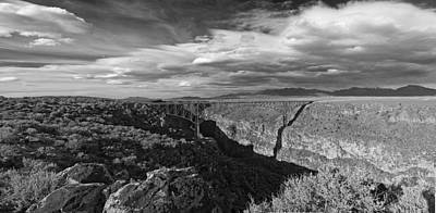Photograph - Bridge Over The Rio Grande by Gary Cloud