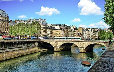 Photograph - Bridge Over The Seine 4 by Allen Beatty