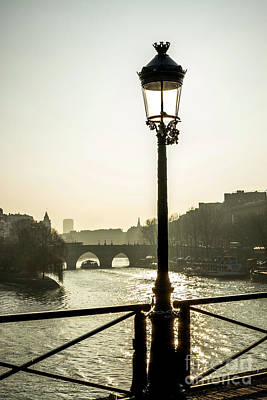 Bridge Over The Seine. Paris. France. Europe. Art Print