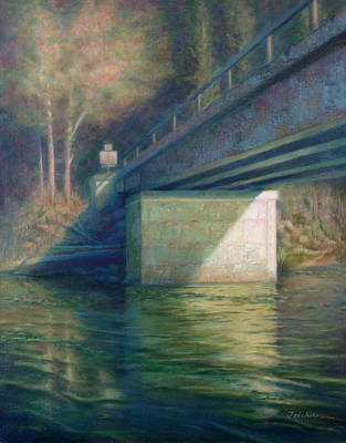 Wall Art - Painting - Bridge Over The Skykomish River by Amanda Teicher