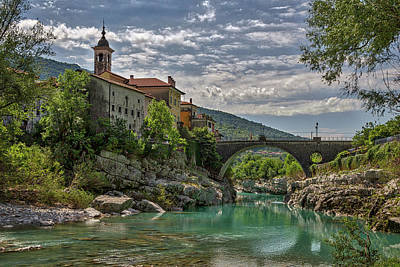 Photograph - Bridge Over The Soca - Kanal Slovenia by Stuart Litoff