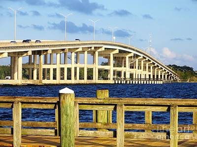Photograph - Bridge Over The St. John's River by Tim Townsend