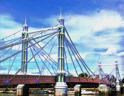 Photograph - Bridge Over The Thames by Judi Bagwell