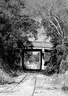 Bridge Over The Tracks Art Print by Robert Wilder Jr