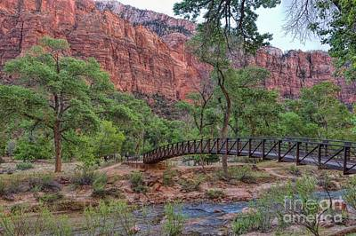 Photograph - Bridge Over The Virgin River by Peggy Hughes
