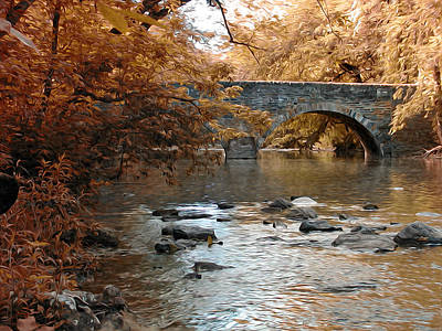 Bridge Over The Wissahickon At Valley Green Print by Bill Cannon