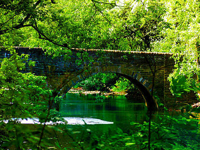 Fairmount Park Photograph - Bridge Over The Wissahickon by Bill Cannon