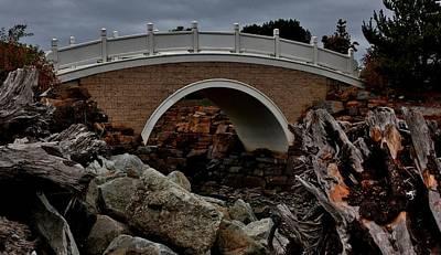 Bridge Over Tidal Waters Art Print