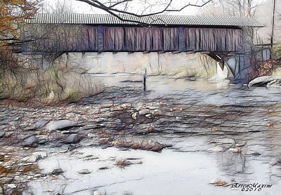 Art Print featuring the photograph Bridge Over Troubled Waters by EricaMaxine  Price
