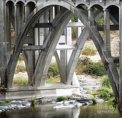 Photograph - Bridge Over Umpqua by L Cecka