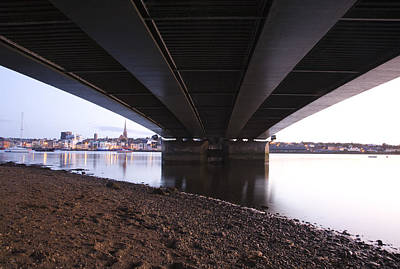 Art Print featuring the photograph Bridge Over Wexford Harbour by Ian Middleton