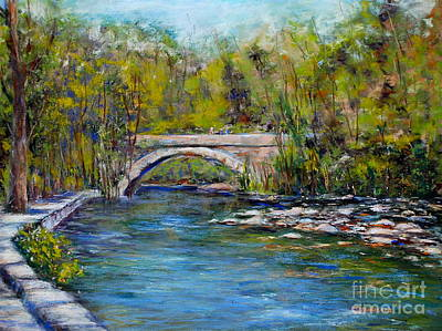 Bridge Over Wissahickon Creek Art Print by Joyce A Guariglia