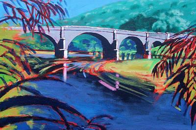 Warm Colors Painting - Bridge by Paul Powis