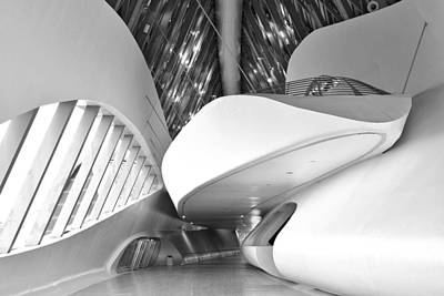 Photograph - Futuristic Passage Monochrome by Marek Stepan