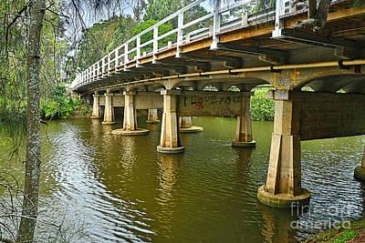 Photograph - Bridge Pillars And Reflections 2 By Kaye Menner by Kaye Menner