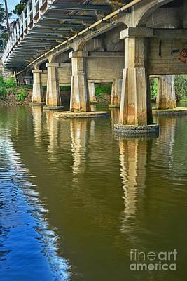Photograph - Bridge Pillars And Reflections 3 By Kaye Menner by Kaye Menner