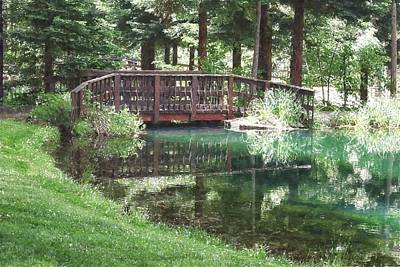 Photograph - Bridge Pond Watercolor by Frank Wilson