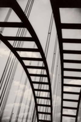 Photograph - Bridge Portrait Open Edition Monochrome by Tony Grider