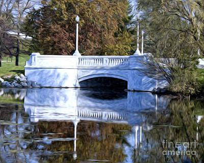 Bridge Reflection Art Print by Anne Raczkowski