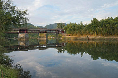 Photograph - Bridge Reflection by Lee Webb