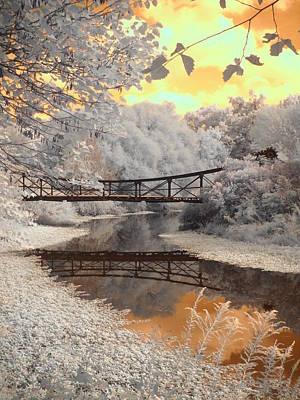 Bridge Reflections Art Print by Jane Linders