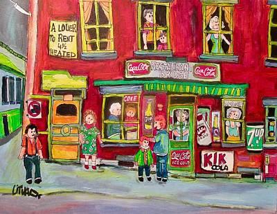 Painting - Bridge Restaurant Victoriatown Goosevillage 1963 by Michael Litvack