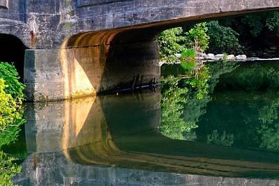 Bridge Shadow Geometry Art Print