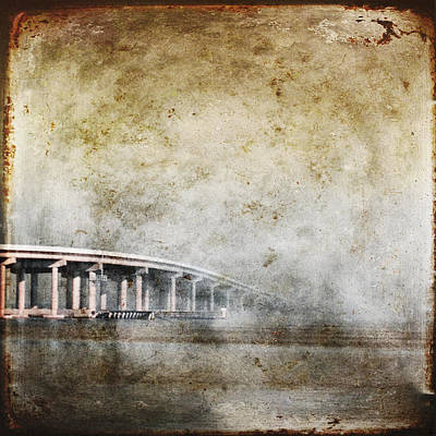 Bridge Over River Art Print by Skip Nall