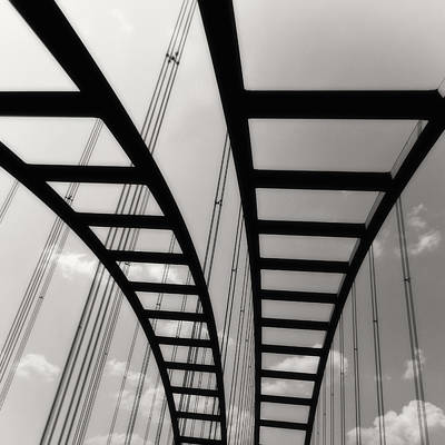 Photograph - Bridge Square Open Edition Monochrome by Tony Grider