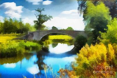 North Wales Digital Art - Bridge Still Life  by Chris Evans