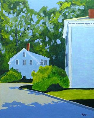 Maine Painting - Bridge Street Afternoon by Laurie Breton