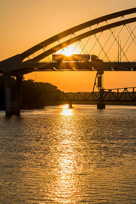 Photograph - Bridge Sunrise 2 by Patti Deters