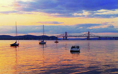 Photograph - Bridge Sunset by Roger Bester