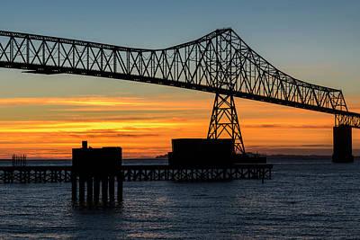 Photograph - Bridge Sunset Silhouette by Robert Potts