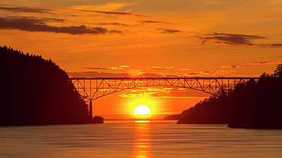 Photograph - Bridge Sunset by Tony Locke
