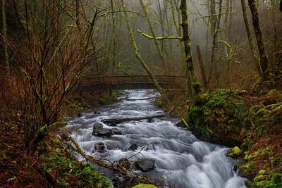 Photograph - Bridge To Bridal Veil Falls by C Steele