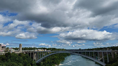 Photograph - Bridge To Canada by Judy Hall-Folde