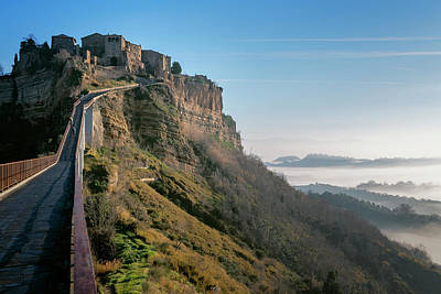 Photograph - Bridge To Civita Di Bagnoregio Italy by Joan Carroll