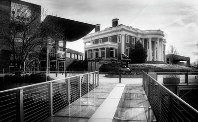 Photograph - Bridge To Hunter Museum In Black And White by Greg Mimbs