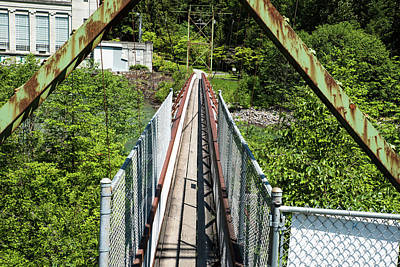 Photograph - Bridge To Ladder Creek Falls by Tom Cochran