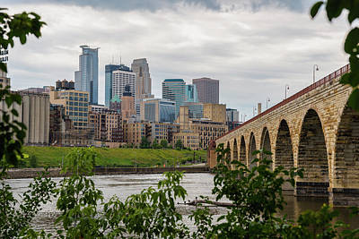 Photograph - Bridge To Minneapolis by Ryan Heffron