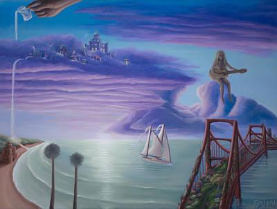 Painting - Bridge To Neverland by Brian Nunes