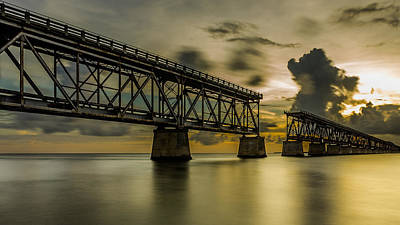 Florida Keys Train Railroad Photograph - Bridge To Nowhere by Albert Mendez